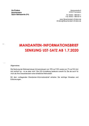 2020-07 - Mandanteninformationsbrief - Cover