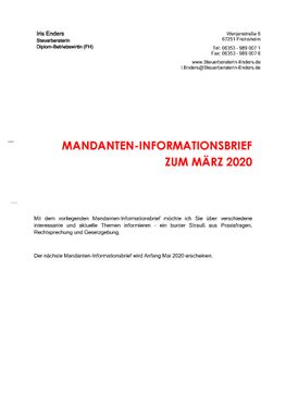 2020-03 - Mandanteninformationsbrief - Cover