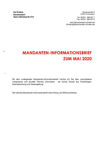 2020-05 - Mandanteninformationsbrief - Cover